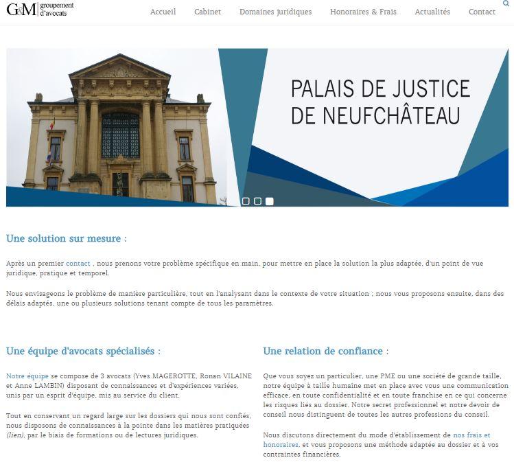 Cabinet d'avocats Gribaumont, Site internet