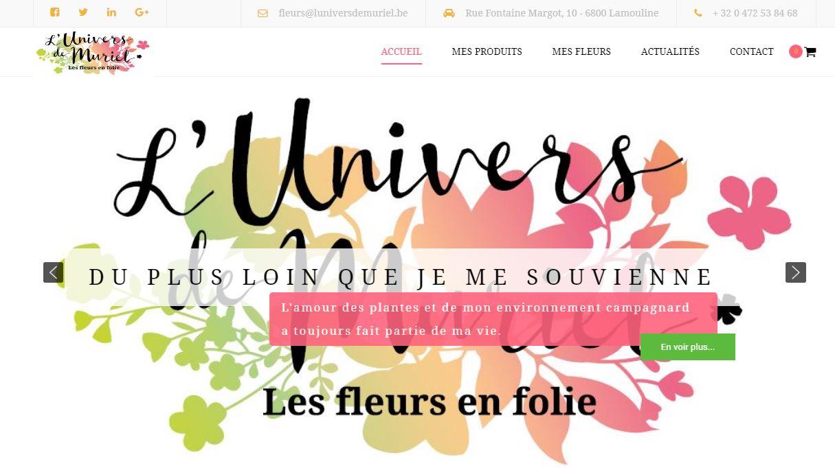 L'univers de Muriel , Site internet