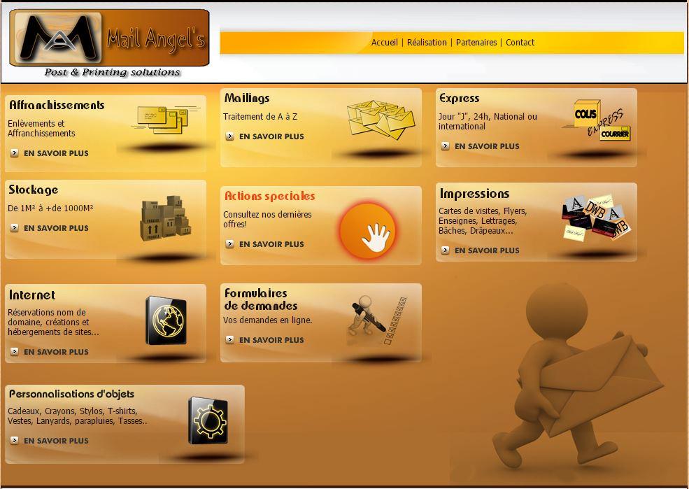 Mail Angel's, Site internet