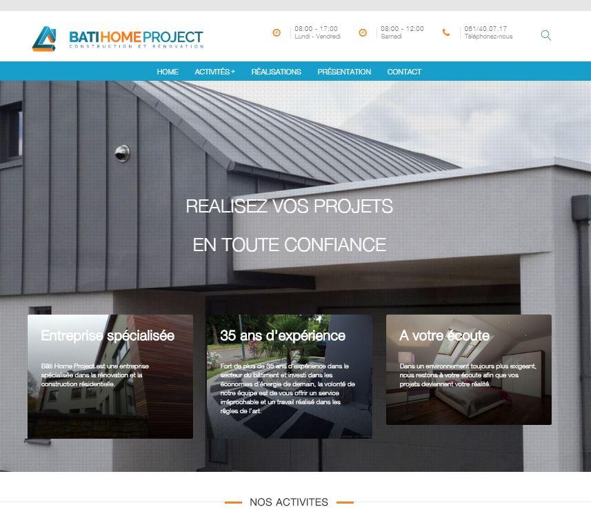 Bâti home Project, site internet