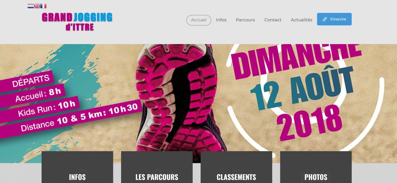 Jogging de Ittre, Site internet