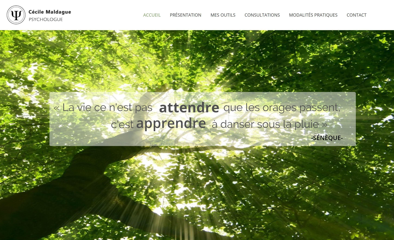 Cécile Maldague Psychologue, Site Web