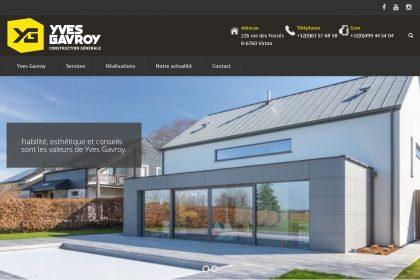 Yves Gavroy Construction, site web