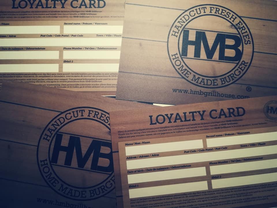 Cartes de fidélité pour HMB