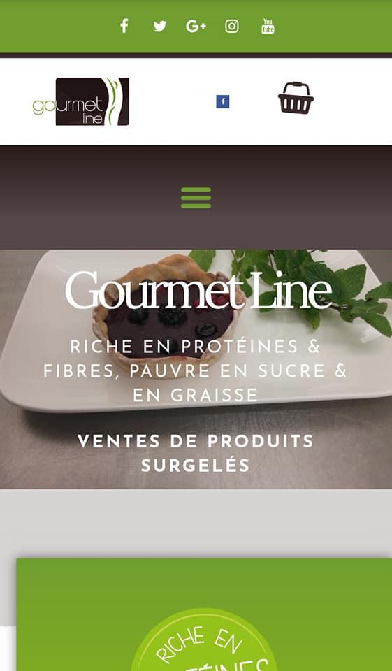 Gourmet Line, Site Web