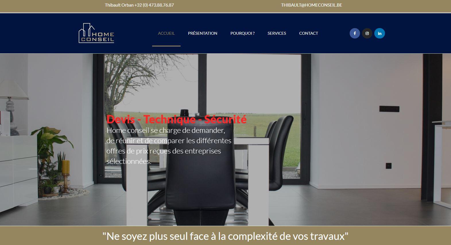 Home Conseil, Site Web