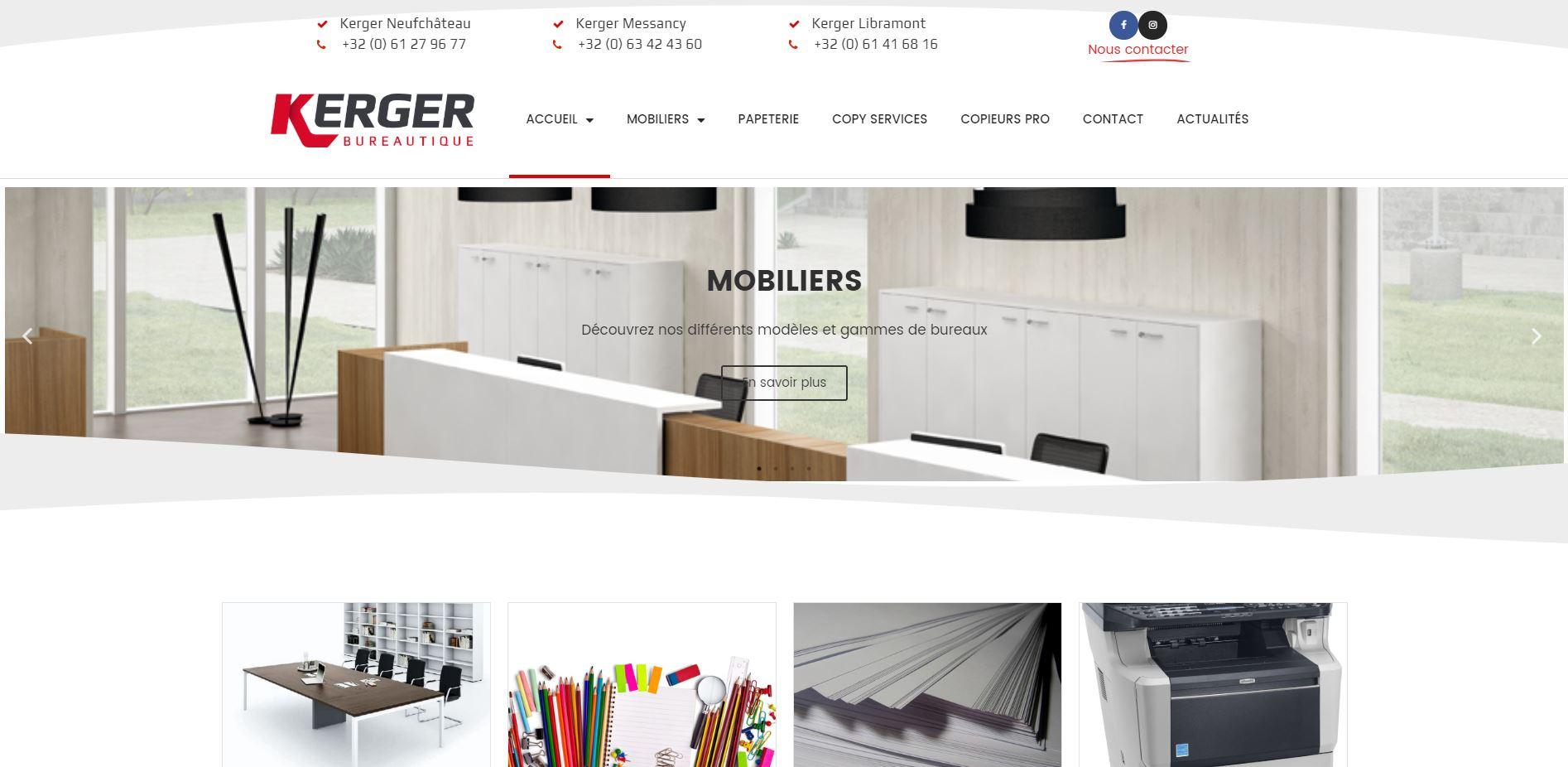 Kerger bureautique, Site Web