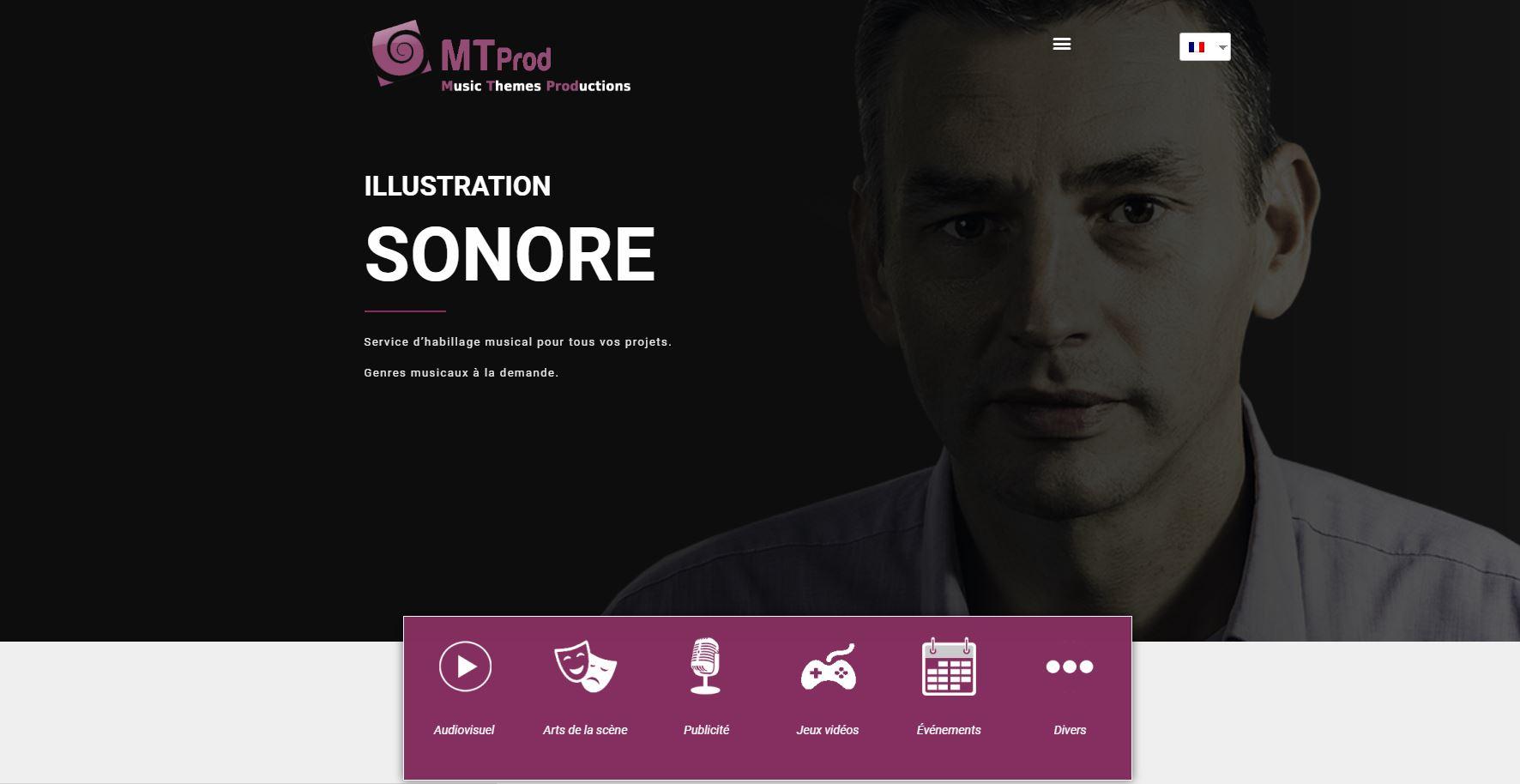 MT Prod, site Web