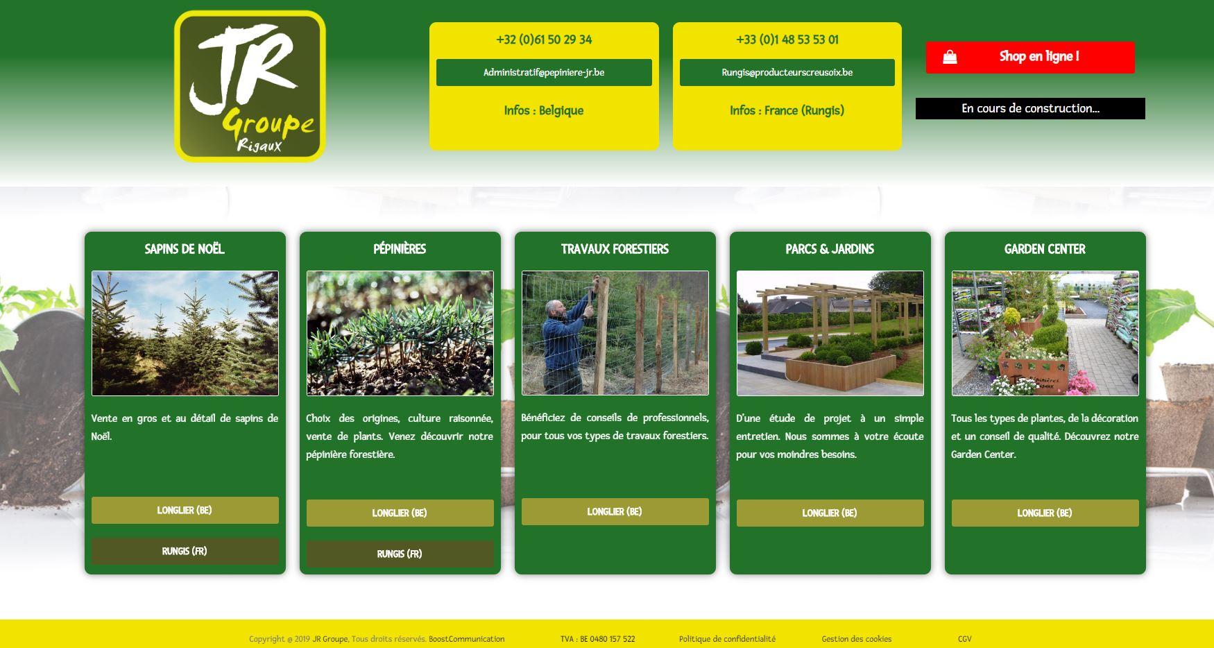 JR Groupe, site web